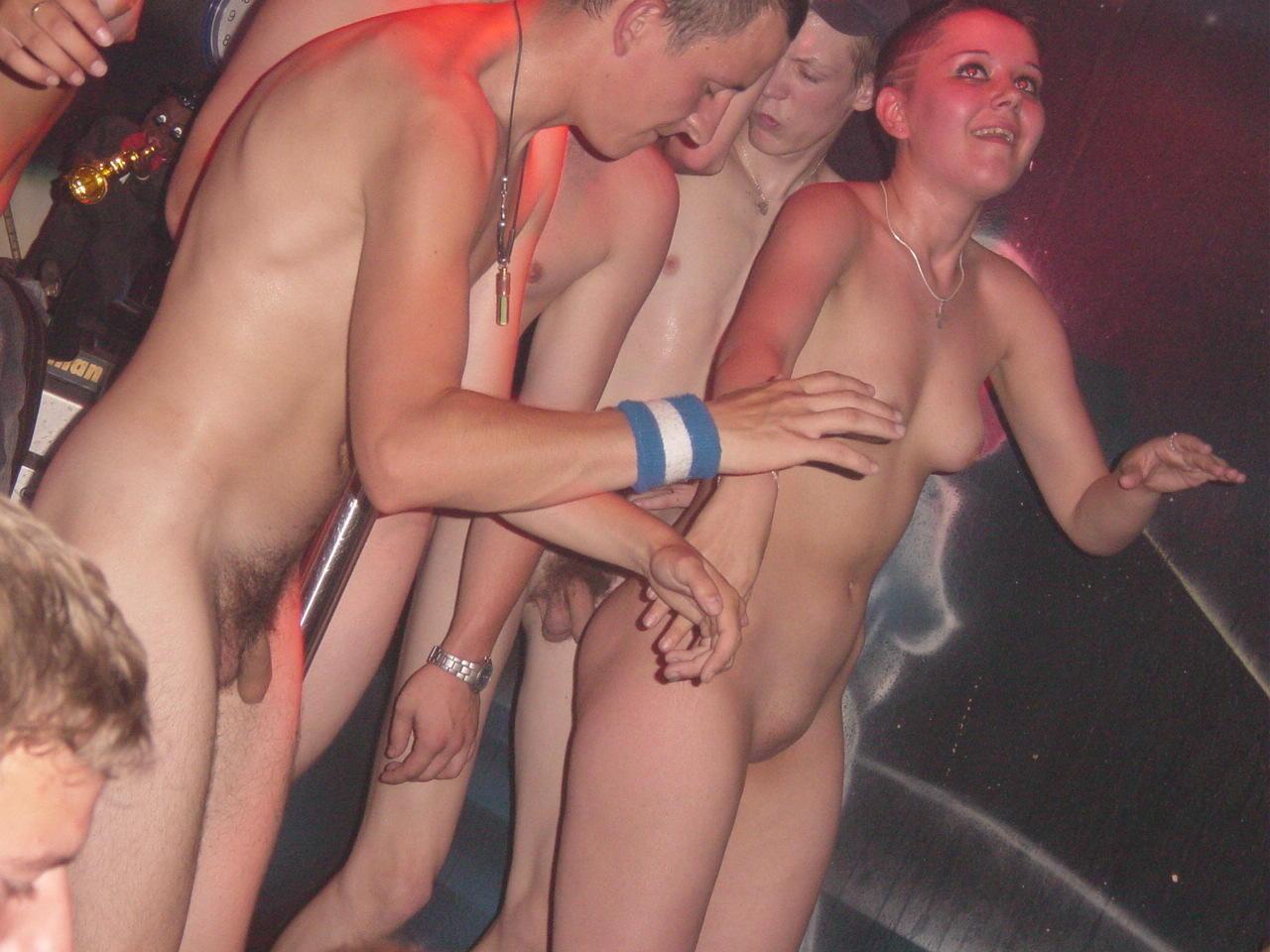 Teenagers dancing steaming..