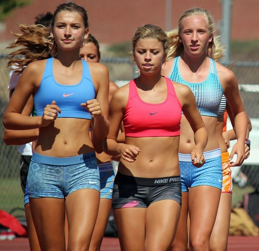 Teens and youthfull athletes in a..