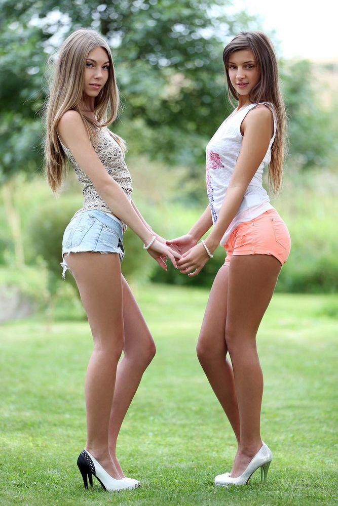 2 long-legged nubile stunners..