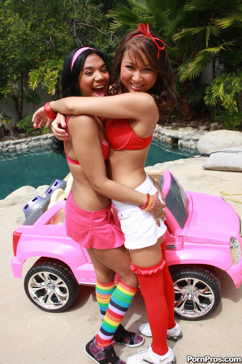 Tiny latina female Emy Reyes and..